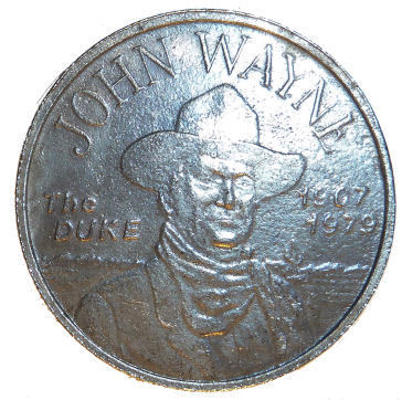 John Wayne The Duke Medallion